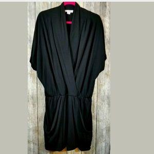 Jessica Simpson surplice dress black large